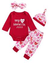 My First Valentine's Day Outfit Set Baby Girls Boy Cute Romper