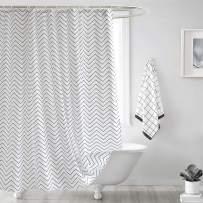 Seavish Fabric Shower Curtain, White Chevron Quick Drying Waterproof 72 x 78 inches Bathroom Shower Curtain Set with Hooks (White Chevron) …