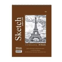 "BAZIC 30 Sheets 9"" X 12"" Top Bound Spiral Premium Sketch Pad, White Blank Sketchbook Drawing Pads, Sketching Paper Coloring Book, Artist Beginner Kids"