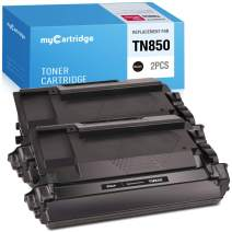 myCartridge Compatible Toner Cartridge Replacement for Brother TN850 TN820 Tn-850 TN 850 Use for Brother MFC-L5900DW HL-L6200DW Hl-L5100Dn Mfc-L6800Dw Hl-L5200Dw (Black, 2 Pack)