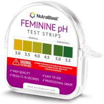 Nutrablast Feminine pH Test Strips 3.0-5.5   Monitor Intimate Health & Prevent Infections   Easy to Use & Accurate Women's Acidity & Alkalinity Balance pH Level Tester Kit (100 Tests Roll)