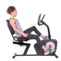 Body Champ Magnetic Recumbent Bike BRB2866 Magnetic Recumbent Bike, Black, Gray, Silver, Red