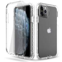 DONWELL Compatible iPhone 11 Pro Case Hybrid Full Body Case with Built-in Screen Protector Three Layer Shockproof Case Cover Compatible with iPhone 11 Pro/iPhone XI Pro 5.8 inch 2019 (Clear-1)