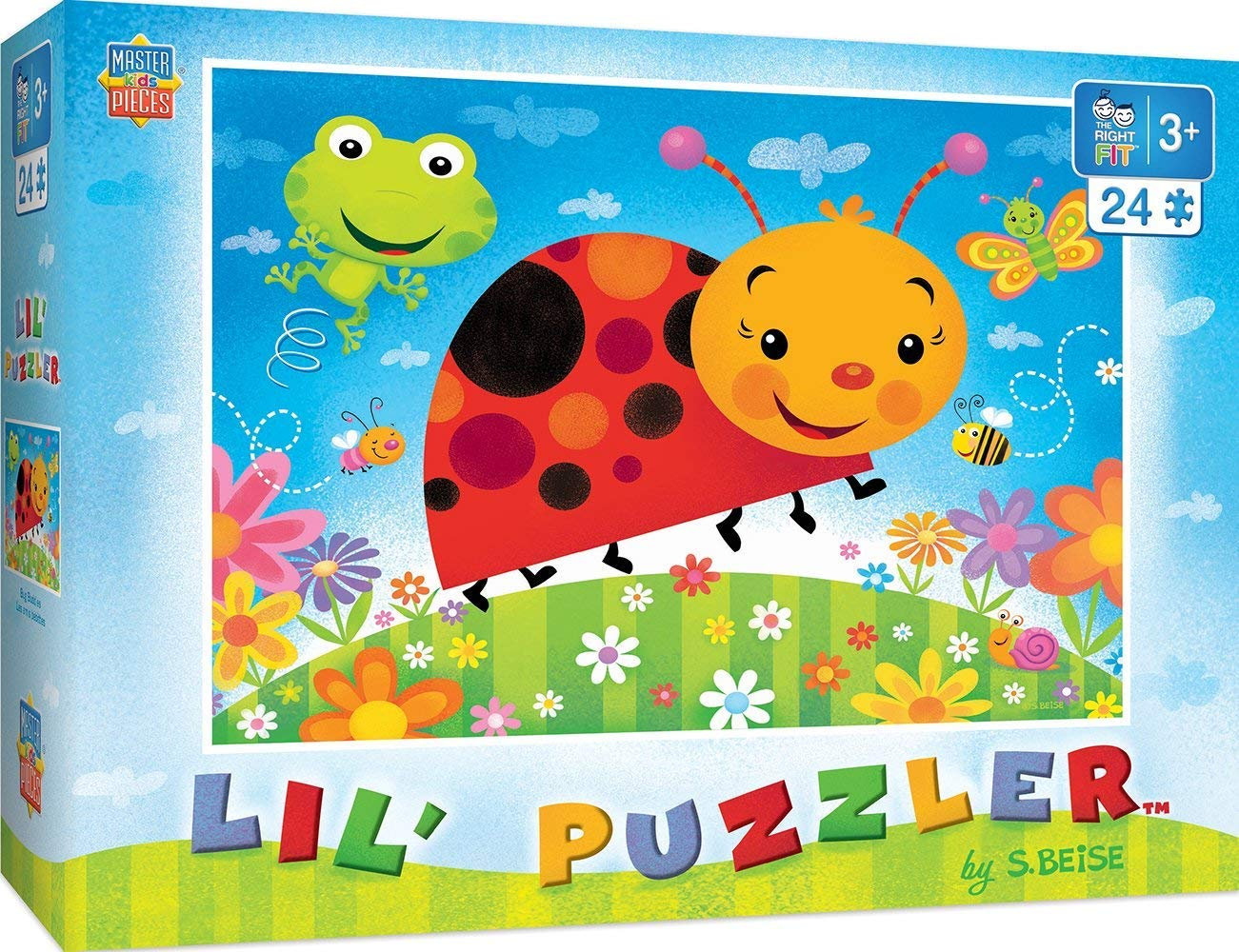 MasterPieces Lil Puzzler Bug Buddies Right Fit Puzzle, 24-Piece