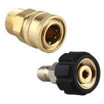 """WILTEEXS Pressure Washer Adapter Set Quick Connect Kit, Metric M22 15mm to 3/8"""", Compatible Sun Joe"""