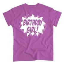 Superhero Birthday Girl Comic Book Hero Party T-Shirt
