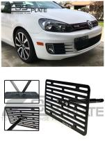 Extreme Online Store Replacement for 2010-2014 Volkswagen GTI MK6 | EOS Plate Version 2 Front Bumper Tow Hook License Plate Relocator Mount Bracket Tow-275-V2 (Full Size)