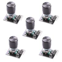 Hikig 5Pcs KY-040 Rotary Encoder Module with 15×16.5 mm with Knob Cap for Arduino (Pack of 5) HKT1062
