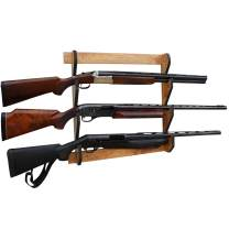 Rush Creek Creations Indoor 3 Rifle/Shotgun Wall Storage Display Rack American Cherry Finish