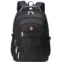 Aoking Men Large Lightweight Backpack Laptop 15.6 Computer Rucksack Travel Business Bag (Black)