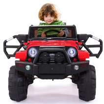 JAXPETY Kids Ride On Battery Powered Electric Car W/Remote Control (Red)
