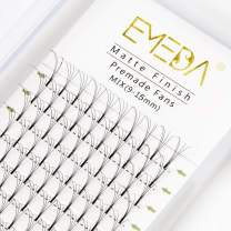 Premade Fans Volume Lash Extensions C Curl D Curl 0.10 Mix Tray 9mm 10mm 11mm 12mm 13mm 14mm 15mm 16mm Mixed Trays .10 4D Pre Fanned Russian Cluster Eyelashes by EMEDA (4D 0.10 D 17 mm )