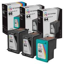 LD Remanufactured Ink Cartridge Replacement for HP 94 & HP 95 (2 Black, 1 Color, 3-Pack)