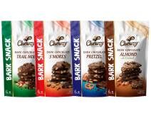 Chewzy Dark Chocolate Bark Snack ( Almond with Coconut, Trail Mix, Pretzel, S'mores ) 100% Kosher Certified, A perfect Tasty Sweet Treat - 6 Ounce bags - ( Variety Pack of 4 )