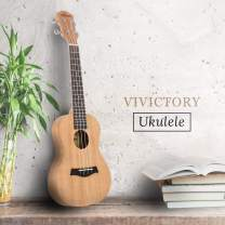 VIVICTORY Soprano Ukulele 21 Inch Mahogany Aquila String With Beginner Kit : Tuner, Gig Bag, Straps and Picks - Natural Color