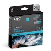 RIO Products Fly Line Intouch SW Outbound Custom T-14 Black/Trans Green, Black-Trans-Green