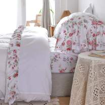 Queen's House Romantic Roses Bed Sheet Sets 4-Piece Queen Size-Style L