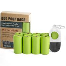 TwoEar Dog Poop Bags Unscented with Dispenser and Leash Clip, Extra Thick and Strong Leak Proof Dog Waste Bags, Pet Poop Bag Holder, Doggy Bags