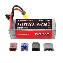 Venom 50C 4S 5000mAh 14.8V Hard Case LiPo Battery ROAR Approved with Universal Plug (EC3/Deans/Traxxas/Tamiya)
