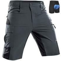 Cycorld Men's-MTB-Shorts-Bike-Shorts-Cycling-Mountain-Biking-Riding-Baggy-Pants Quick Dry, Lightweght with Pockets