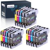 OfficeWorld Compatible Ink Cartridges Replacement for Brother LC-61 LC61, for Brother MFC-495CW, MFC-490CW, MFC-6490CW, MFC-6490CW, MFC-6890CDW(6 Black, 3 Cyan, 3 Magenta, 3 Yellow) 15 Pack
