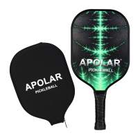 Apolar Pickleball Paddle, Pickleball Racket with Cover Premium Full Carbon Lightweight Ultra Cushion Grip Honeycomb Composite Core Paddles Racquet Cover Protection Bundle