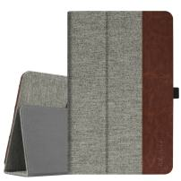 """Fintie Folio Case for AT&T Primetime Tablet - Premium Fabric Stand Cover with Auto Sleep/Wake Feature for 10"""" ATT Primetime/ZTE K92 Primetime Android Tablet, Gray"""