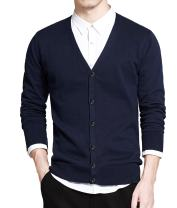 COOFANDY Men's Shawl Collar Cardigan Sweater Slim Fit Button Down Cardigan Casual Knitwear Jacket