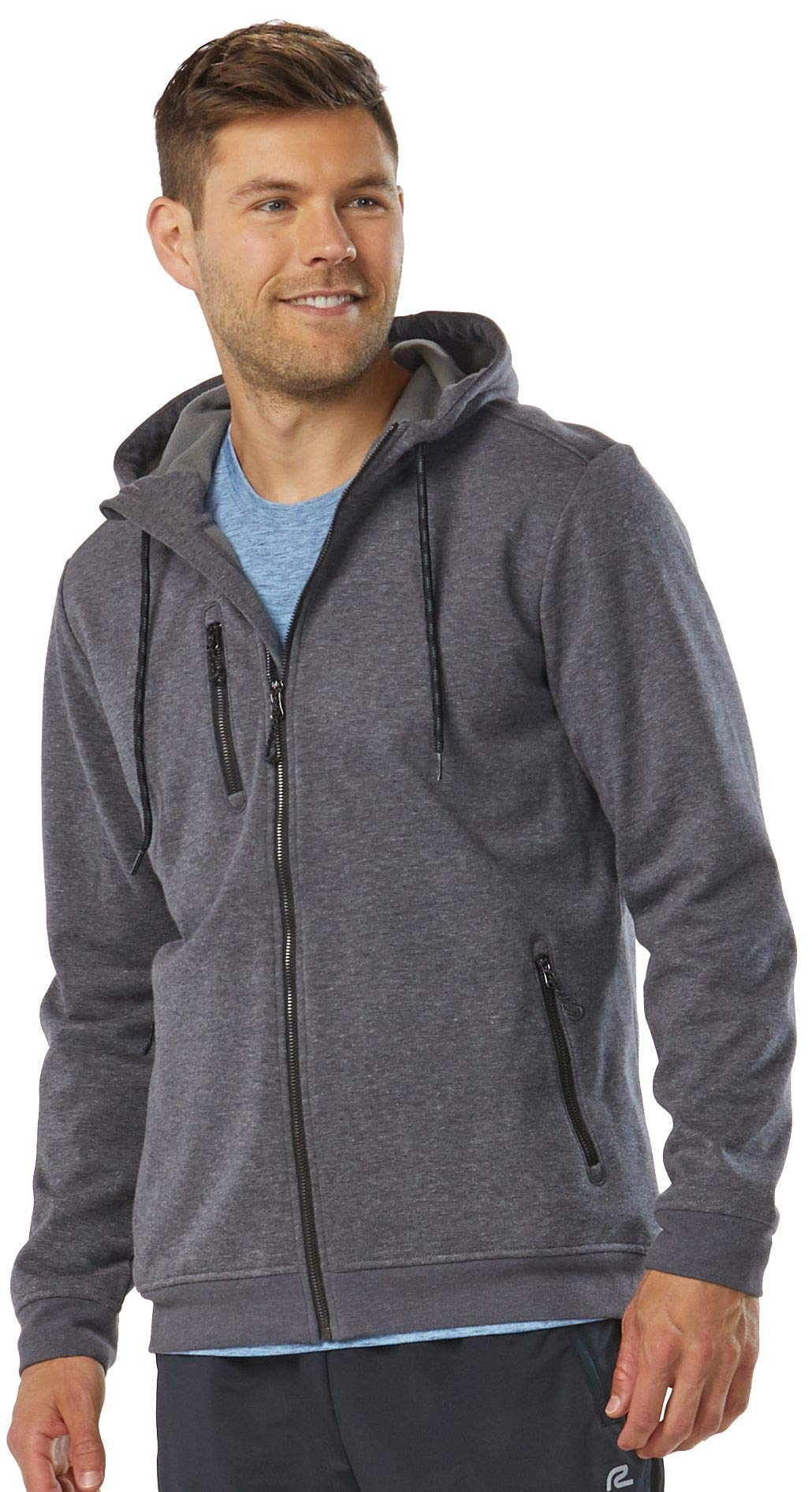 R-Gear Men's Full-Zip Water-Repellent Jacket Hoodie | Rain Chaser