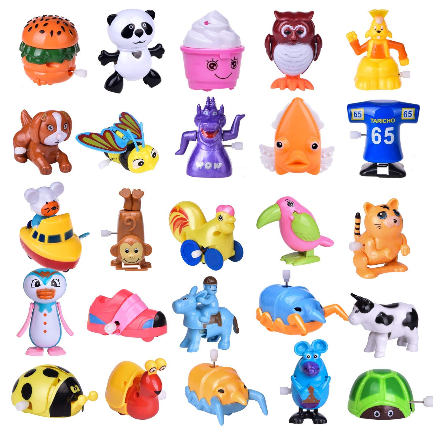 Wind Up Toys 25 PCs Assorted Animal Toys for Easter Party Favors, Easter Egg Fillers