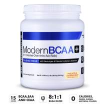 Modern BCAA+® The Better BCAA™ Amino Acids Supplements - Post Workout Muscle Recovery Powder Supplement Drink with Amino Acids - 30 Servings, Pineapple Strawberry