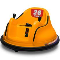 Kidzone Race #35/#53 Ride On Bumper Car Toy for Toddlers Aged 1.5+ 6V Battery-Powered with Light for Boys & Girls, Orange