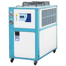 Mophorn 5 Tons Air-Cooled Industrial Chiller 5 HP Compressor Finned Condenser Micro-Computer Control & 67L Stainless Steel Water Tank