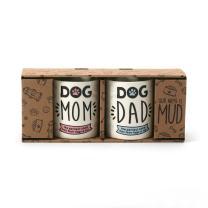 Enesco Our Name Is Mud Dog Mom and Dad Stoneware Mug Set, 12 oz, Multicolor