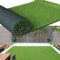 "Artificial Grass Turf Area Rug - Grass Height: 1.38"" - Size: 1FTX23FT - Perfect Color/Sizing for Any Indoor/Outdoor Uses and Decorations"