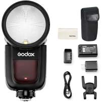 Godox V1-C Round Head Camera Flash Speedlite, 2.4G X Wireless HSS 76Ws Speedlight Flash for Canon 6D 7D 50D 60D 500D 550D 600D 650D 1000D 1100D 1DX 580EX II 5D Mark II III