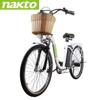 """NAKTO 26"""" 250W City-Electric Bicycle Sporting 6-Speed Gear E-Bike 36V 10A Lithium Battery"""