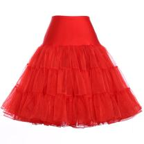 GRACE KARIN Women's 50s Petticoat Vintage Crinoline Tutu Underskirts