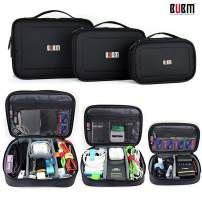 BUBM 3pcs/Set Office Travel Electronics Organizer Bag Carrying Storage for Cable Cord Battery, Gear Pouch