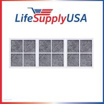 LifeSupplyUSA 3 Pack Replacement Air Purifying Fresh Air Fridge Filters Compatible with LG LT120F, Compatible with Kenmore Elite 9918 Part # ADQ73334008 & ADQ73214404