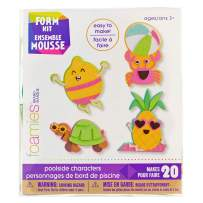 Poolside Characters Foam Kit – Create 4 Individual Beach Characters – Makes 20 Foam Friends – 243 Stickers Included – Beach Parties, Summer Afternoons, Art Projects, and More – Ages 3 and Up