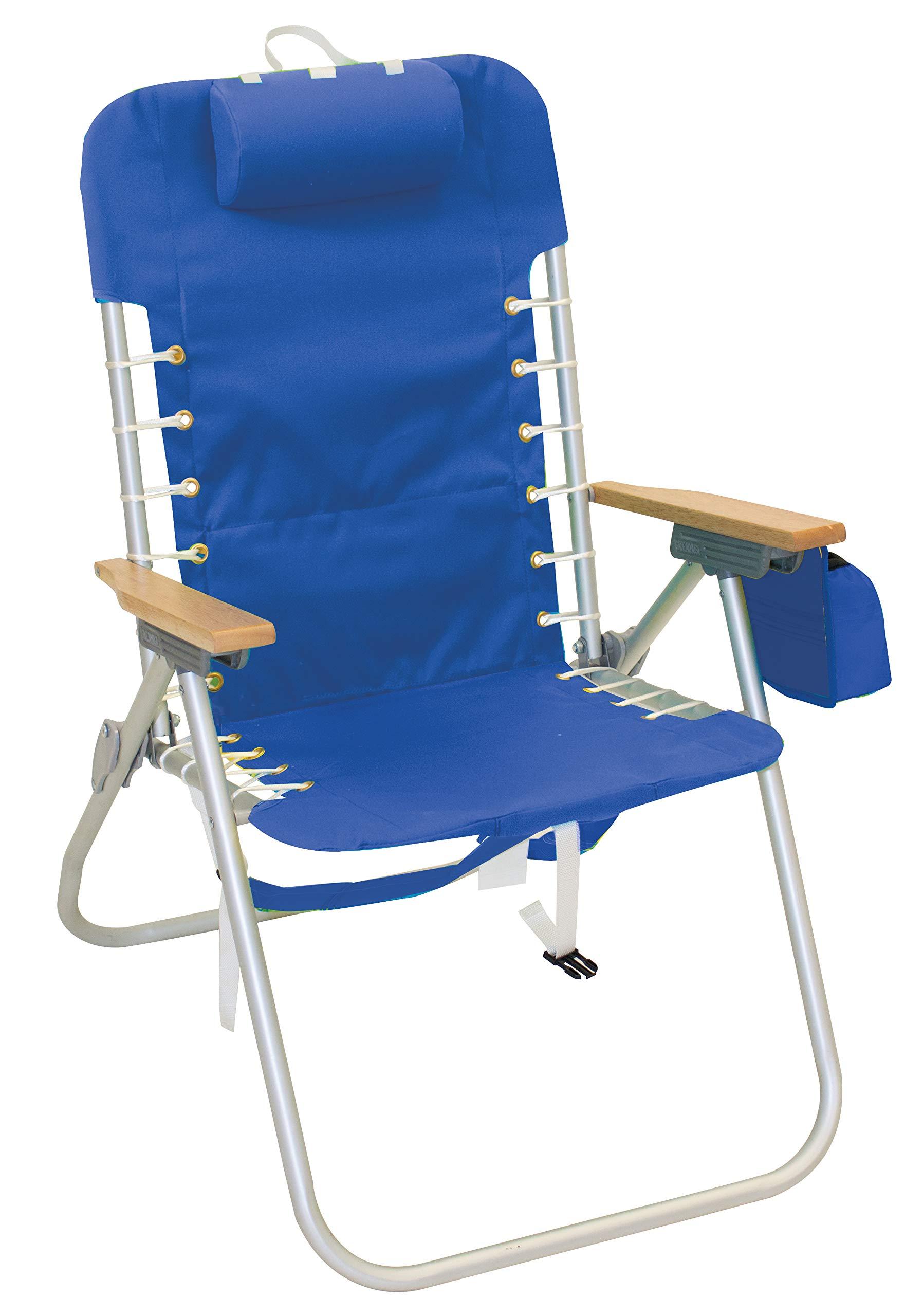 """Rio Beach Hi-Boy 17"""" Suspension Folding Backpack Beach Chair"""