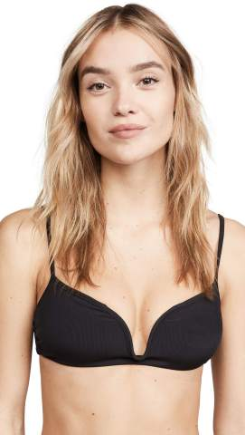 Tori Praver Swimwear Women's Poppy Rib Bralette Bikini Top