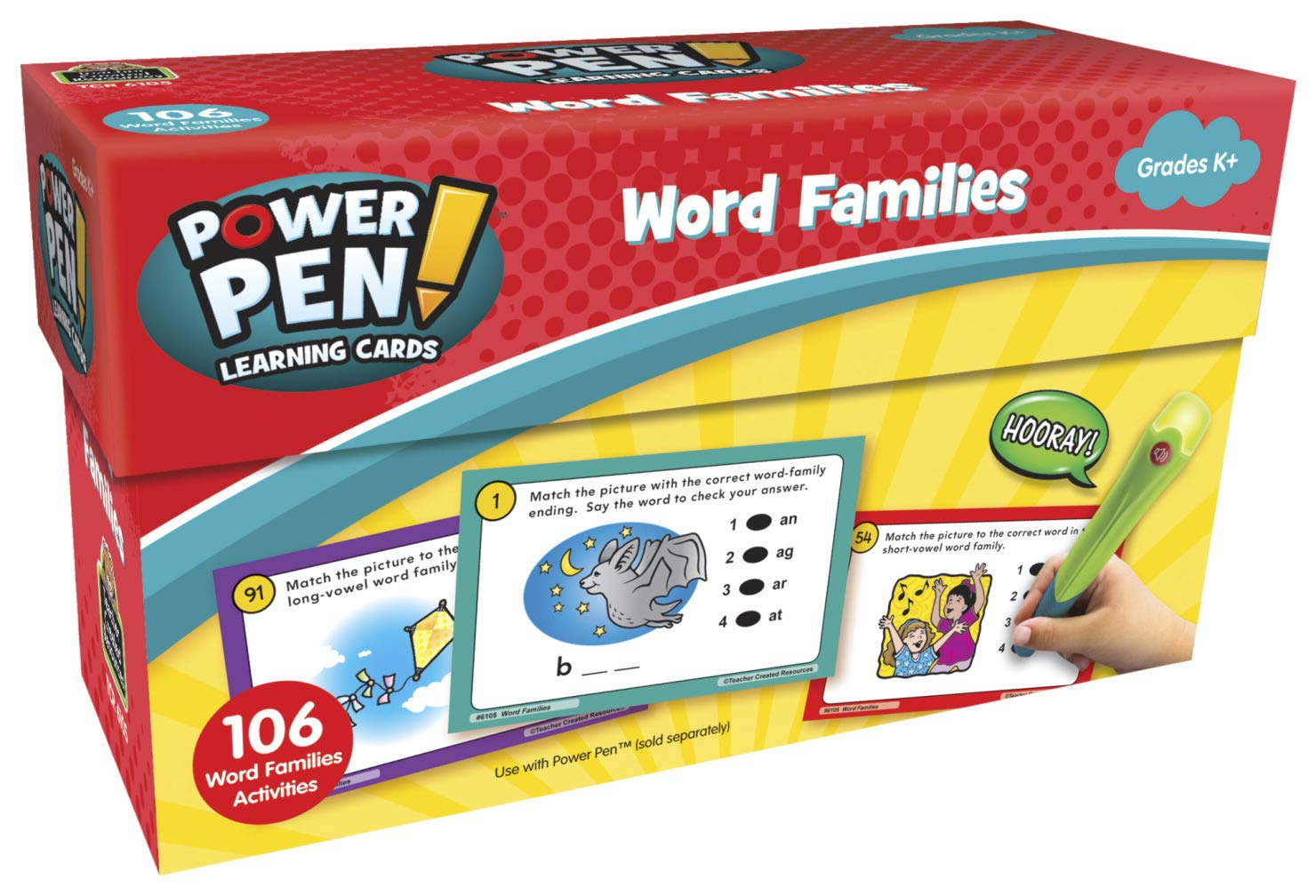 Teacher Created Resources Power Pen Learning Cards: Word Families