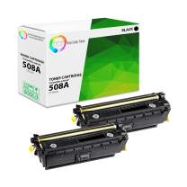 TCT Premium Compatible Toner Cartridge Replacement for HP 508A CF360A Black Works with HP Laserjet Enterprise M552 M553 M577 Printers (6,000 Pages) - 2 Pack