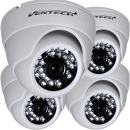 VENTECH (4 Pack) Dome Security Camera Surveillance 2.0 megapixel AHD/TVI/CVI Mode and 1200tvl for Regular Analog Mode, 24 IR LED Day and Infrared IR Night Vision 12v Dome Camera Home ir Security cam