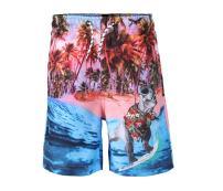 VECCOBERRY Boy's Quick Dry Beach Board Shorts 3D Dinosaur Print Swim Trunks with Pockets & Mesh Lining