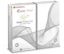 Cranberry USA CR3425 Curve Fitted Nitrile Powder Free Exam Gloves, 6.5 Size, White (Pack of 100)