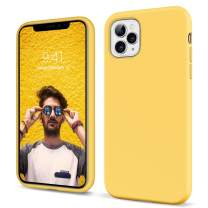 iPhone 11 Pro Case 2019 YINLA Liquid Silicone Slim Fit Soft Rubber Cover Non Slip Grip Shockproof Protective Hybrid Hard Back Bumper Durable Girly Women Phone Covers for iPhone 11 Pro 5.8 inch,Yellow