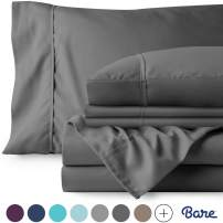 Bare Home 7 Piece 1800 Collection Deep Pocket Bed Sheet Set - Ultra-Soft Hypoallergenic - 2 Extra Pillowcases (Split King, Grey)